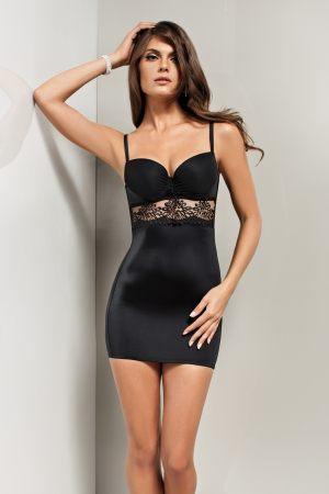черная люксовая ночная Сорочка с чашками LISCA - EUPHORIA купить в подарок девушке