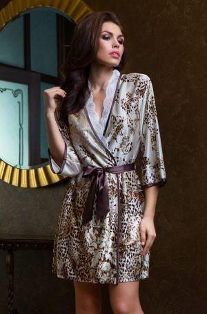 короткий леопардовый Халат кимоно MIA-MIA - Cleopatra