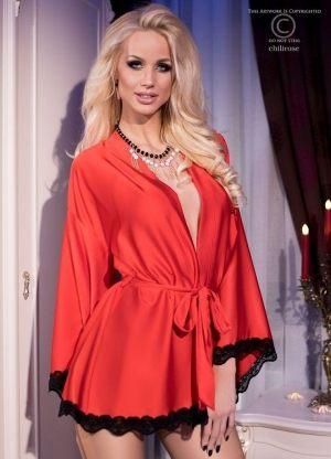 Халат кимоно красный CHILIROSE - RED 4112   - купить