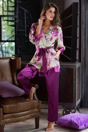 Комплект MIA-MIA - Vitelia: жакет + брюки, Длинная женская пижама Mia-Mia
