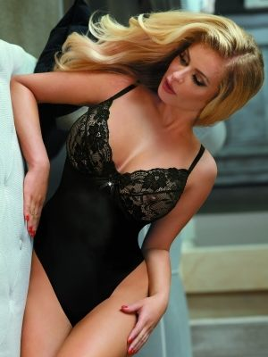 красивое Черное эротическое боди  Excellent Beauty 213 купить
