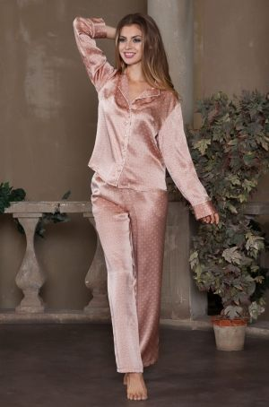 Пижама AGATA: брюки + жакет, 100% шелк