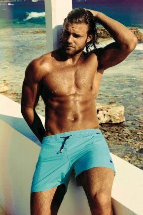 Пляжные шорты DAVID - DM7-001, acquamarin