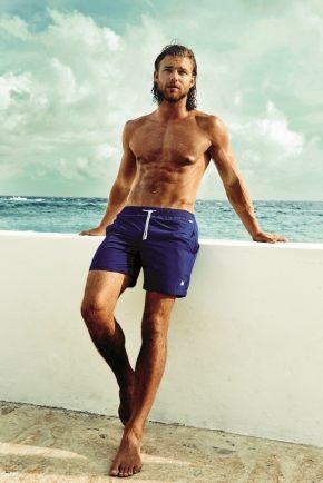Пляжные шорты DAVID - DM7-001, blu