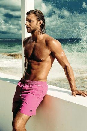 Пляжные шорты DAVID - 001, fuchsia