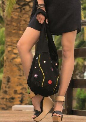 Пляжная сумка с декором, 100% хлопок