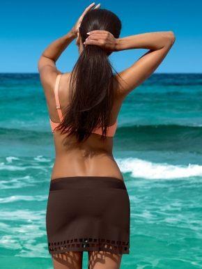 Пляжная юбка с перфорацией LORIN  - 001