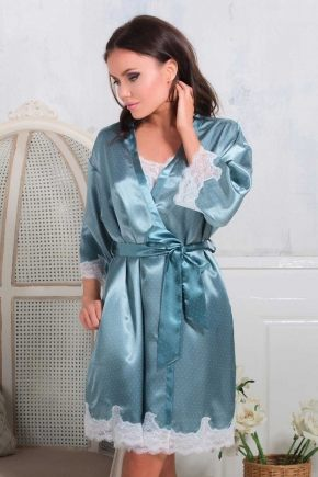 Халат кимоно Mia-Mia - Marta, фисташка