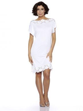 Пляжное мини  платье кружевное  Rebecca