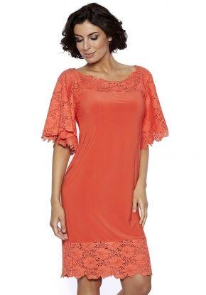 Пляжное кружевное платье Rebecca, coral