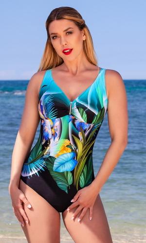 яркий модный красивый Слитный купальник plus-size BAHAMA 830604 купить
