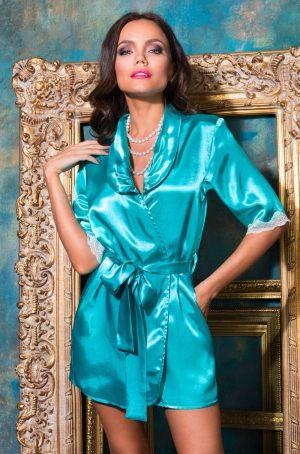 красивый короткий Бирюзовый Халат кимоно  MIA-MIA - Crystal - купить