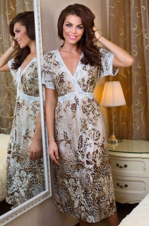Длинная домашняя  сорочка-платье Миа-Миа, Платье домашнее Mia-Mia - Cleopatra