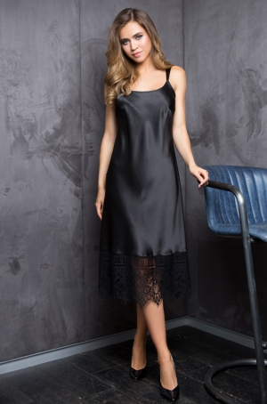 черная Ночная сорочка-платье Mia Mia EVELINE 17534 в магазине Flirt-Time.ru