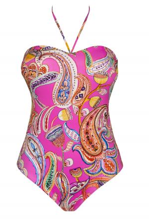 люксовыйСлитный купальник бандо EMPREINTE - Sunset купить в магазине флирт тайм