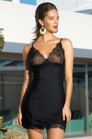 Черная кружевная комбинация Mia-Mia - Elegance 2011 - купить  в подарок девушке