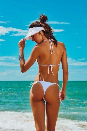 пляжный белый Козырек  Maryssil - LISA WHITE