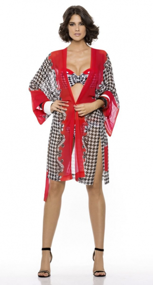 Пляжный халат-кимоно Rebecca - ONYX