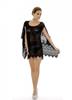 купить черное Пляжное платье-туника Rebecca - Beachwear black