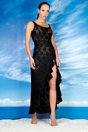 купить черное платье с разрезом  от BB by Rebecca