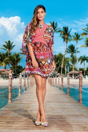 купить моджное красивое Пляжное платье DAVID - Afrique Rainbow 6603-DA 16.