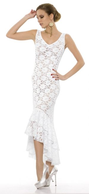 Ажурное платье Rebecca - BEACH CLOTHES с люрексом