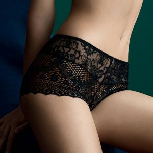 люксовые черные Трусы шорты EMPREINTE - Cassiopee, black купить в подарок девушке