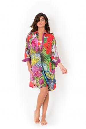 розовая Пляжная туника-платье DAVID DA8-021  -  купить