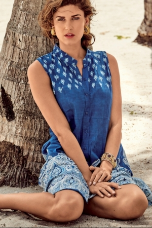 купить Синее женское пляжное платье-сарафан DAVID Beach 038