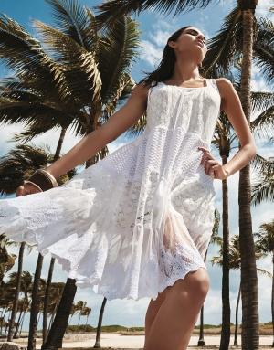эксклюзивное люксовое белое Пляжное платье ICONIQUE