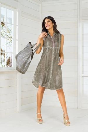 оливковая Пляжная блуза Iconique - RESORT 048, 100% хлопок