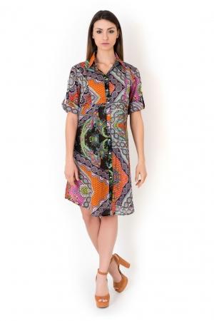 Яркая пляжная туника-рубашка ICONIQUE IC8-096 -  купить флирт тайм