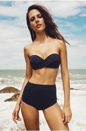 купить Черный купальник  с высокими плавками Larissa Minatto, Бразилия