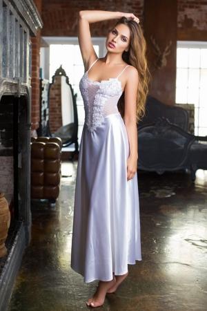 Белая ночная сорочка  MIA-MIA - Paloma 17485 - купить  в подарок девушке