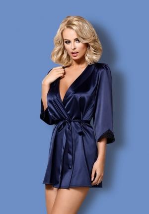 красивый Синий халат кимоно Obsessive со стрингами