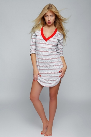 женская Домашняя сорочка-платье Sensis - SNOWFLAKE  купить