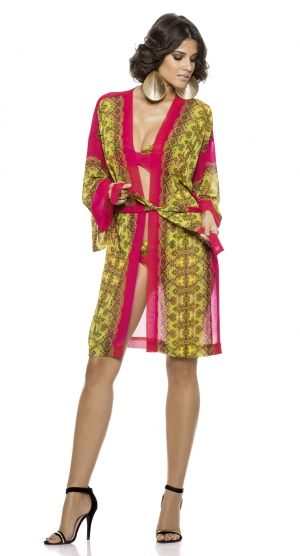 Пляжный халат Rebecca - RUBY, фуксия