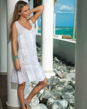 белое Пляжное платье David - ICONIQUE, 100% хлопок