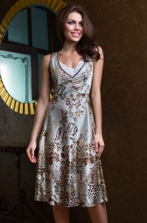 Длинная сорочка для дома  MIA-MIA -  17325 Cleopatra Длинная  сорочка-комбинация Миа-Миа