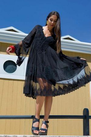 черное пляжное платье Пляжное платье RESORT GLAM купить