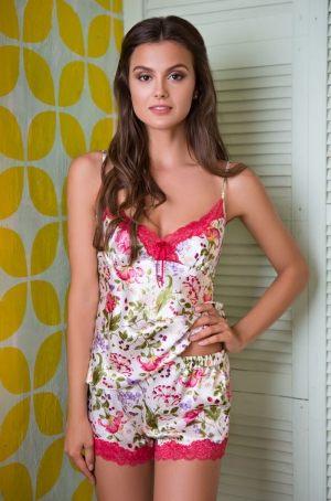 Пижама Mia-Mia - Azalia: топ + шорты, Короткая пижама с топом и шортами  Mia-Mia