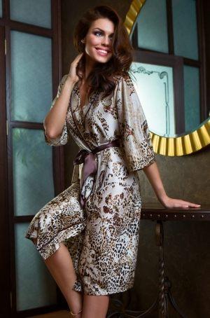 купить леопардовый Длинный халат MIA-MIA - Cleopatra