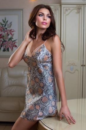 Сорочка с вырезом MIA-MIA - DIORА, 100% шелк