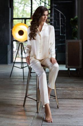 Пижама Kristy: брюки + жакет, 100% шелк