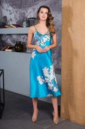 Платье домашнее миди SAKURA, 100% шелк