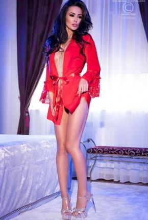 Халат кимоно CHILIROSE - 4084 Peignoir красный