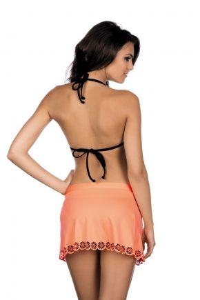 Пляжная юбка с перфорацией LORIN - MINT
