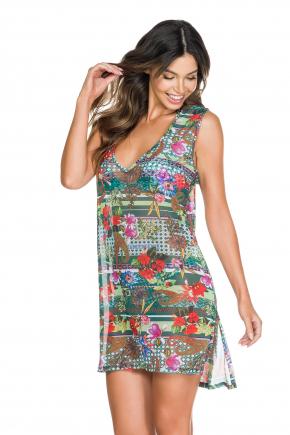 Пляжное платье-сетка MARYSSIL - FLORA