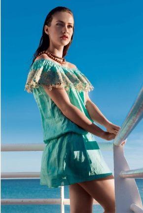 Платье мини Vacanze - CHARMING, 100% лён