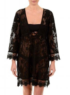 Пляжное платье-туника BLACK, 100% хлопок